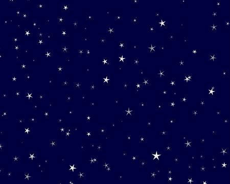 cielo estrellado: Hermosa noche cielo estrellado de fondo. Ilustraci�n vectorial.