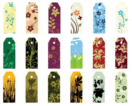 Set of  different vector floral  bookmarks for design use Stock Vector - 4272948