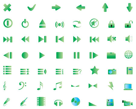 Biggest collection of different icons for using in web design Stock Vector - 4272891