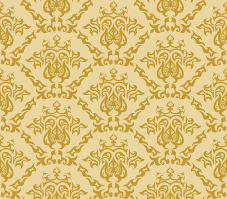 brown background: Abstract seamless vector damsk background for design use
