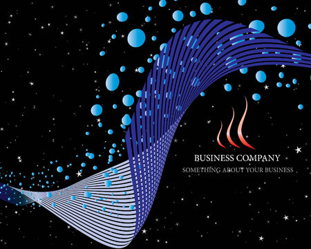 airs: Abstract vector business background on sea theme Illustration