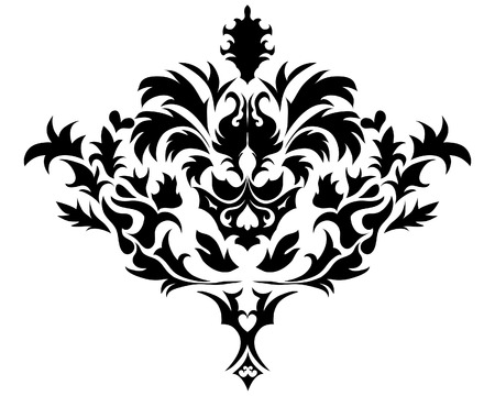 scrool: Abstract vintage vector emblem in victorian style