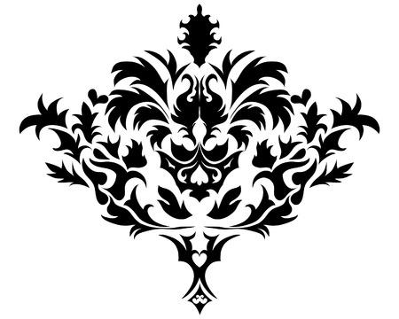 Résumé vecteur vintage emblème dans le style victorien Vecteurs