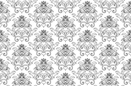 Abstract seamless vector damsk background for design use Vector