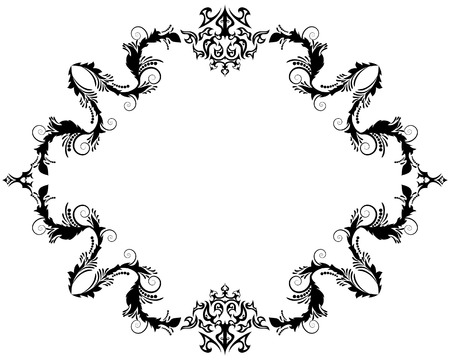 victorian: Abstract floral vector frame background in Victorian style