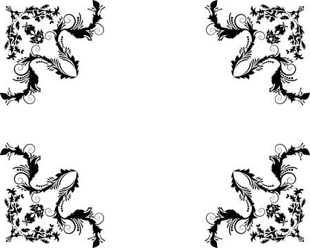 floral vector: Resumen floral vector marco de fondo en estilo victoriano Vectores