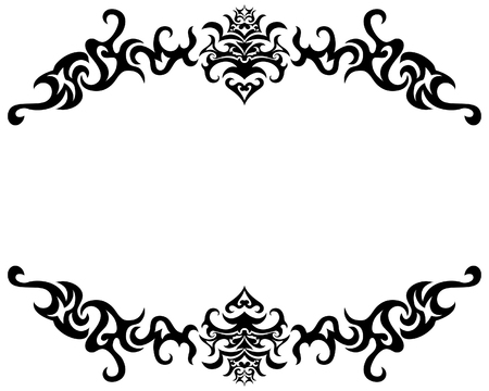 Abstract gothic vector frame for design use Vector