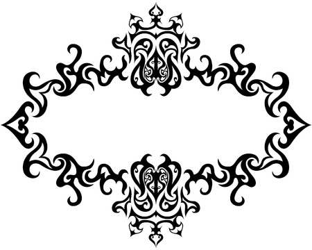 victorian border: Abstract gothic vector frame for design use