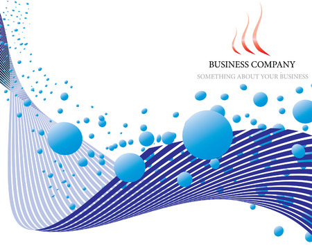 Abstract vector business background on sea theme Vector