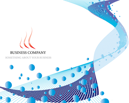 Abstract vector business background on sea theme Illustration