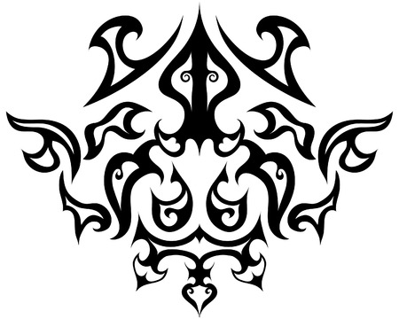 Abstract vintage vector emblem in victorian style Stock Vector - 4316355