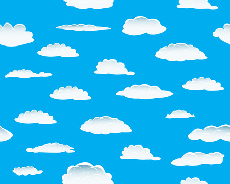 Seamless vector clouds background for design use Stock Vector - 4316356