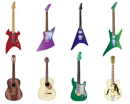 electro: Set Farbe akustischen Gitarren-und Elektro -