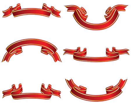 Set of different vector ribbons on white background Stock Vector - 4317026