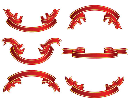 Set of different vector ribbons on white background Stock Vector - 4317025