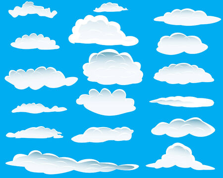Seamless vector clouds background for design use Vector