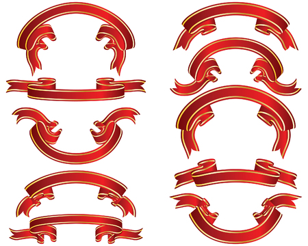 Set of different vector ribbons on white background Stock Vector - 4343331