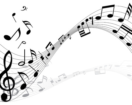 Musical note stuff  vector backgrounds with notes and lines Illustration