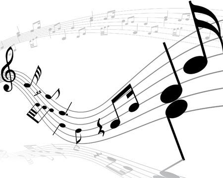viertelnote: Note Sachen Vektor Hintergr�nde mit Noten und Linien