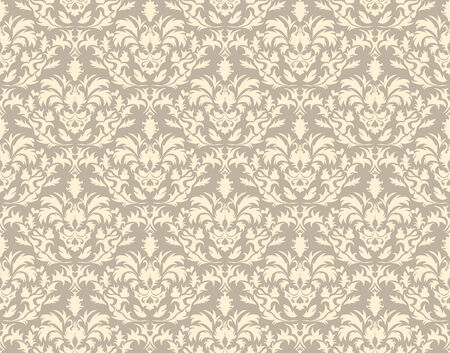 Abstract vector seamless damask background in gothic style Vector