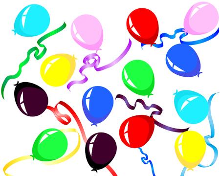 Beautiful colour balloon in the air. Vector illustration. Stock Vector - 4383736