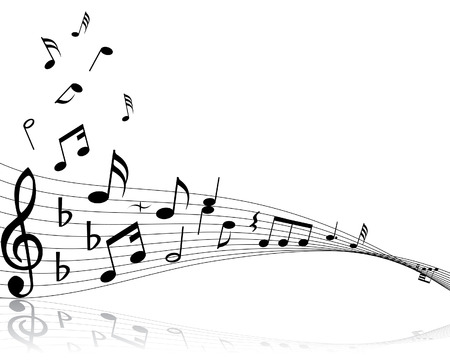 crotchet: Musical note stuff  vector backgrounds with notes and lines Illustration