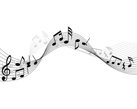 Musical note stuff  vector backgrounds with notes and lines Stock Vector - 4383730