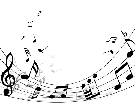 Musical note stuff  vector backgrounds with notes and lines Stock Vector - 4383723