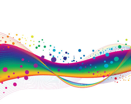 flow of colors: Colourful lines background on sea theme for design use
