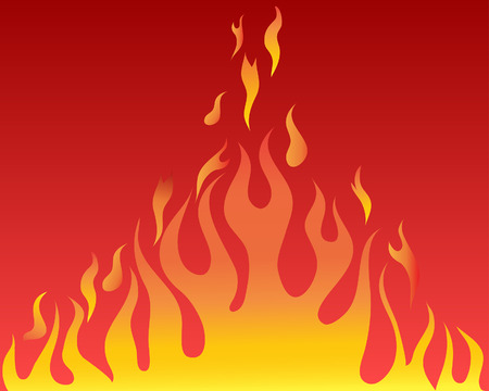 blazes: Vector illustrations body of flame on red background Illustration