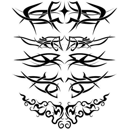 linee vettoriali: Modelli di tatuaggio tribale utilizzare per la progettazione