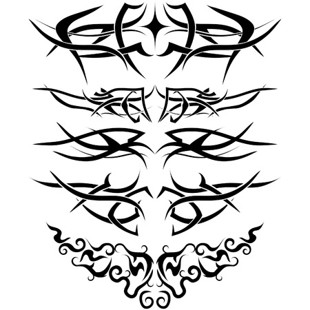 Patterns of tribal tattoo for design use Stock Vector - 4383764