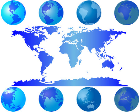 Set of worls globes for design use Vector