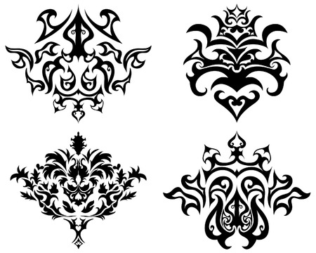 Abstract gothic  emblem set for design use Vector