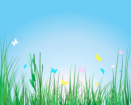 Vector illustration grass background for design usage Stock Vector - 4455169