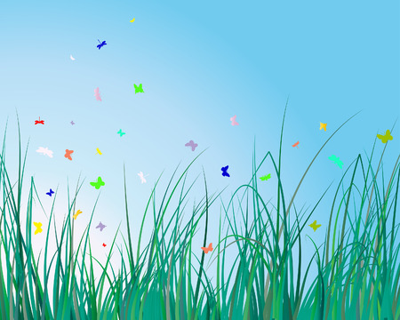 Vector illustration grass background for design usage Stock Vector - 4455217