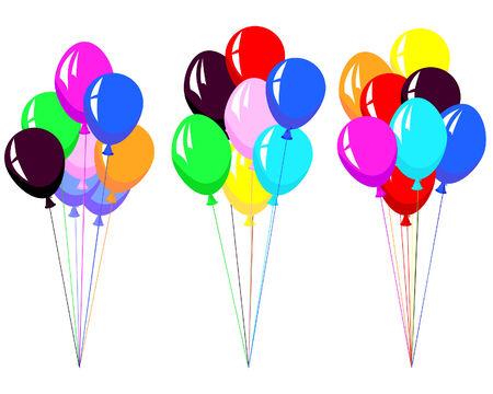 Beautiful colour balloon in the air. Vector illustration. Stock Vector - 4455164