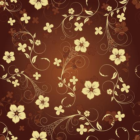 bordures fleurs: Floral sans soudure de fond pour utiliser votre design. Pour faciliter la r�partition homog�ne de l'ensemble du groupe suffit de glisser dans la barre des �chantillons, et l'utiliser pour remplir toute contours. Illustration