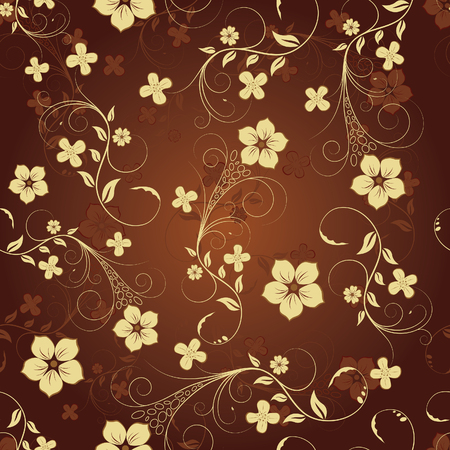 floral borders: Floral seamless background for yours design use. For easy making seamless pattern just drag all group into swatches bar, and use it for filling any contours. Illustration