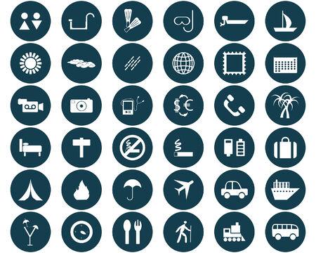 train icone: La plus grande collection d'ic�nes diff�rentes pour l'utilisation de Voyage en web design Illustration