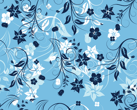 Floral seamless background for yours design use. For easy making seamless pattern just drag all group into swatches bar, and use it for filling any contours. Stock Vector - 4455256
