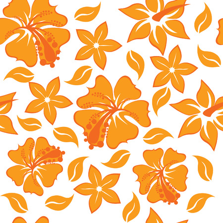 Floral seamless background for yours design use. For easy making seamless pattern just drag all group into swatches bar, and use it for filling any contours. Stock Vector - 4455247