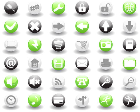 Biggest collection of different icons for using in web design Stock Vector - 4501766