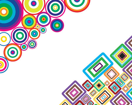 circle vector: Circle stroke elements vector background in different colors