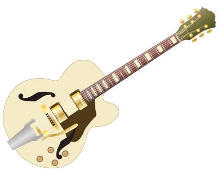 Pattern of color electric guitar for design use Vector
