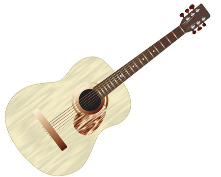 Pattern of color acoustic guitar for design use