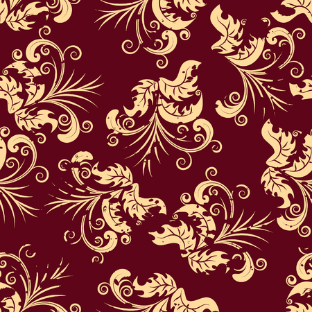 Floral seamless background for yours design use. For easy making seamless pattern just drag all group into swatches bar, and use it for filling any contours. Stock Vector - 4522188