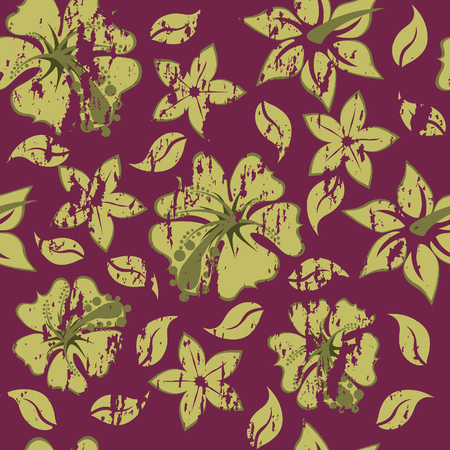 Floral seamless background for yours design use. For easy making seamless pattern just drag all group into swatches bar, and use it for filling any contours. Stock Vector - 4522206