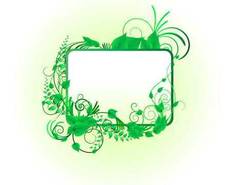 Green floral vector background for design use Vector