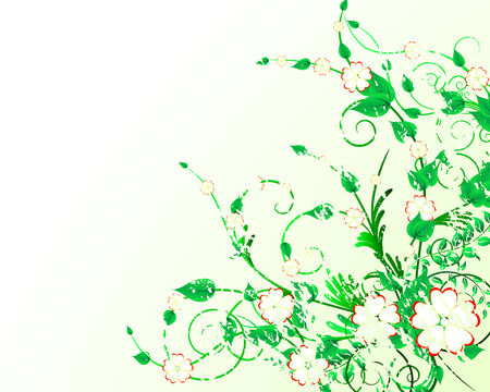 Green floral vector background for design use Stock Vector - 4558975
